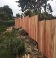 Pebble Beach Redwood Fence